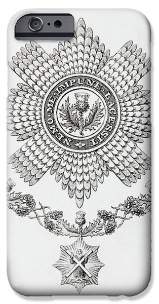 Knighthood iPhone Cases - Star, Collar And Badge Of The Order Of iPhone Case by Ken Welsh