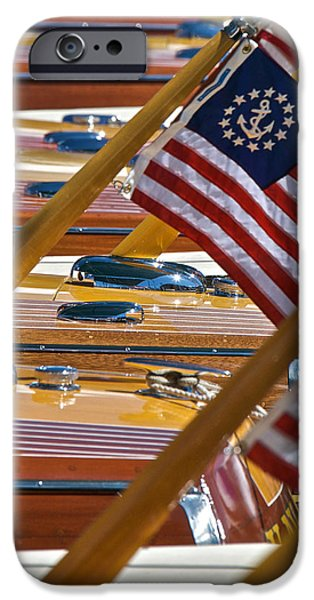 Old Glory iPhone Cases - Stars and Stripes on the Water iPhone Case by Steven Lapkin