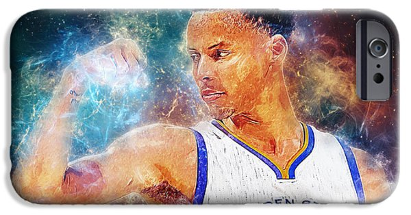 Oracle iPhone Cases - Stephen Curry iPhone Case by Taylan Soyturk