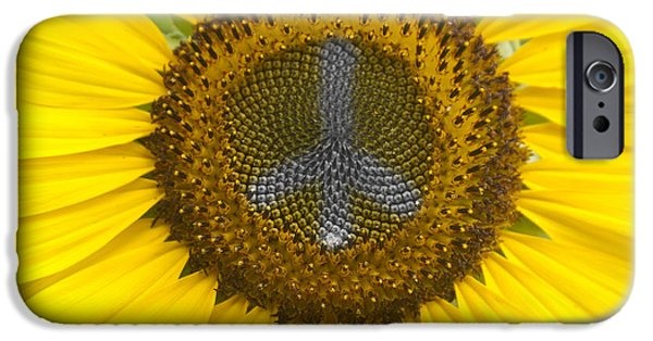 James Bo Insogna iPhone Cases - Sunflower Peace Sign iPhone Case by James BO  Insogna