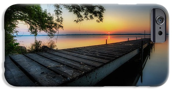 Great Lakes iPhone Cases - Sunrise over Cayuga Lake iPhone Case by Everet Regal