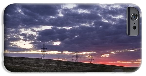 Recently Sold -  - Electrical iPhone Cases - Sunset Pylon iPhone Case by Chris Smith