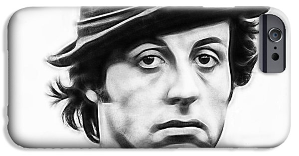 Sylvester Stallone iPhone Cases - Sylvester Stallone Collection iPhone Case by Marvin Blaine