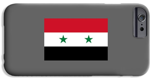 Flag iPhone Cases - Syria Flag iPhone Case by Frederick Holiday