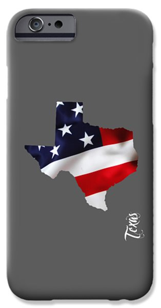 United States Map iPhone Cases - Texas State Map Collection iPhone Case by Marvin Blaine