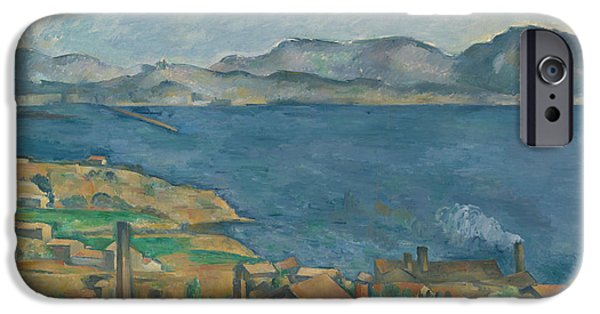 Beach iPhone Cases - The Bay Of Marseilles iPhone Case by Paul Cezanne