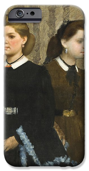 Three-quarter Length iPhone Cases - The Bellelli Sisters iPhone Case by Edgar Degas