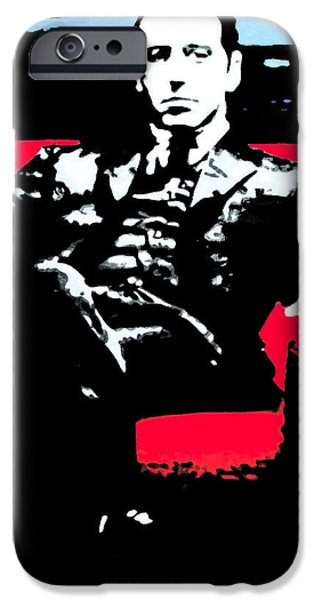 Francis Ford Coppola iPhone Cases - The Godfather iPhone Case by Luis Ludzska