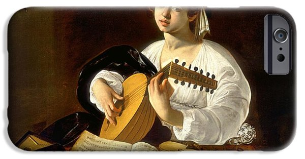 Lute Paintings iPhone Cases - The Lute-player iPhone Case by Caravaggio