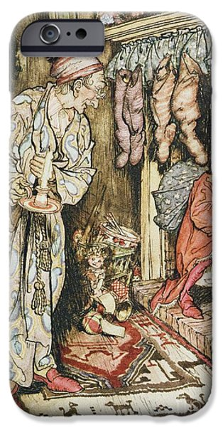 Eve iPhone Cases - The Night Before Christmas iPhone Case by Arthur Rackham