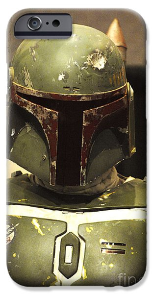 Jet Star iPhone Cases - The Real Boba Fett iPhone Case by Micah May