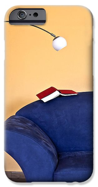 Couch iPhone Cases - Time to read iPhone Case by Joana Kruse