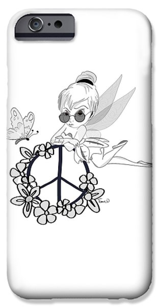 Tinker Bell iPhone Cases - Tinky iPhone Case by Tami Dalton
