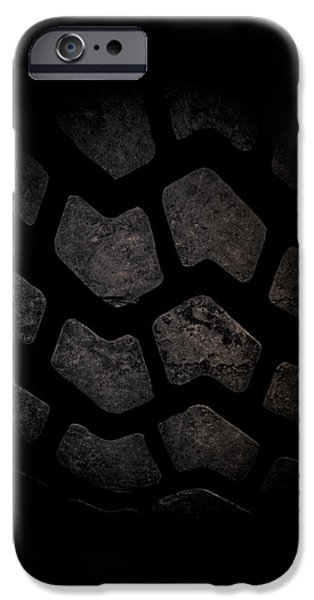 Michelin iPhone Cases - Tire Tread Art iPhone Case by Roland Keates