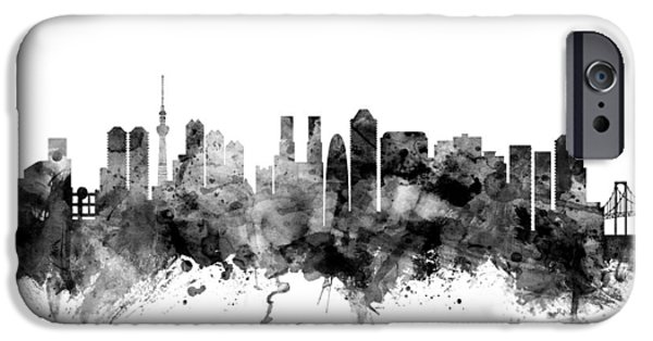 Tokyo iPhone Cases - Tokyo Japan Skyline iPhone Case by Michael Tompsett