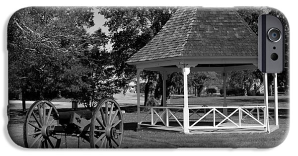 Bandstand iPhone Cases - Town Green - Scotland Connecticut iPhone Case by Mountain Dreams