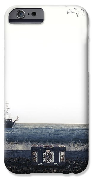 Pirate Ship iPhone Cases - Treasure Chest iPhone Case by Joana Kruse