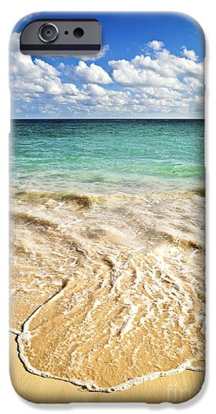 Ocean iPhone Cases - Tropical beach  iPhone Case by Elena Elisseeva