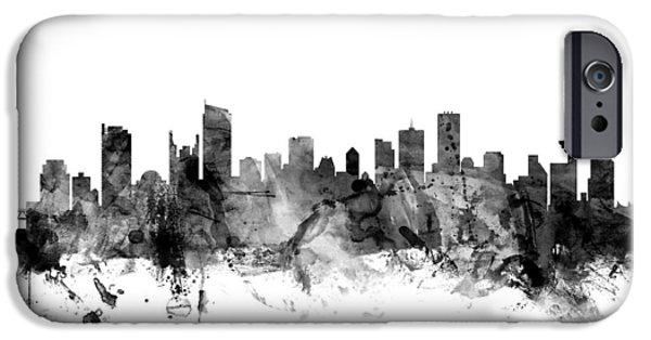 British Columbia iPhone Cases - Vancouver Canada Skyline iPhone Case by Michael Tompsett