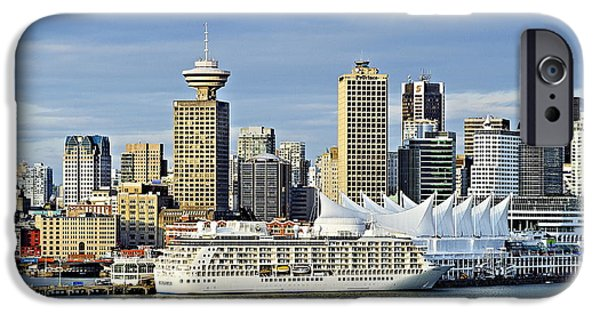 Business Photographs iPhone Cases - Vancouver skyline iPhone Case by John Greim