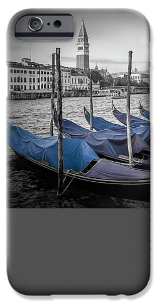 Colorkey iPhone Cases - VENICE Grand Canal and St Marks Campanile iPhone Case by Melanie Viola
