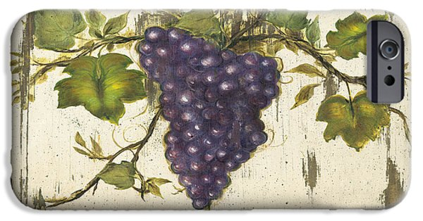 Red Wine iPhone Cases - Vineyard Red Wine Sign iPhone Case by Grace Pullen