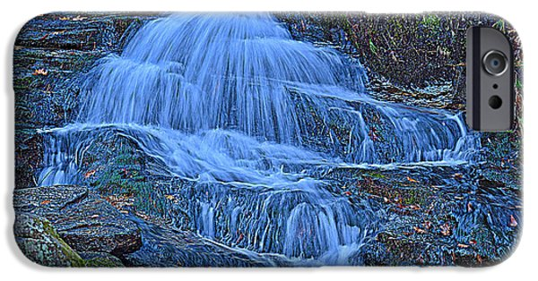 Ledge iPhone Cases - Water In Flow Motion iPhone Case by Douglas Miller
