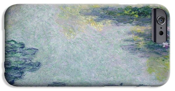 Petals iPhone Cases - Waterlilies iPhone Case by Claude Monet