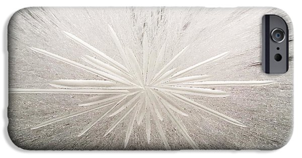 Contemporary Abstract Glass Art iPhone Cases - White Spark iPhone Case by Robert Zeman
