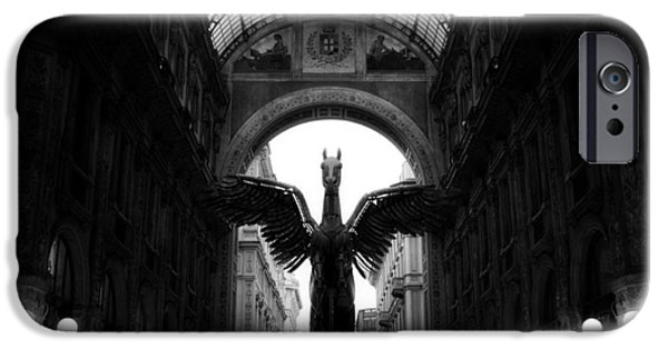 White Sculptures iPhone Cases - Winged Pegasus  iPhone Case by Igor Saveliev