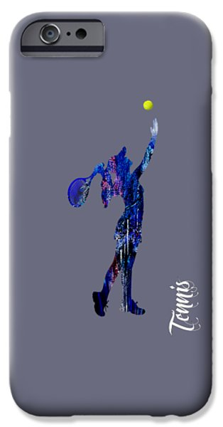 Womens Tennis iPhone Cases - Womens Tennis Collection iPhone Case by Marvin Blaine