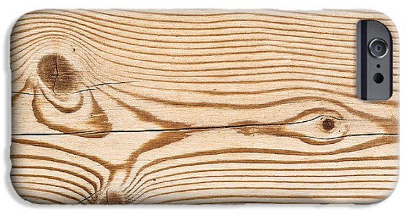 Creativity Photographs iPhone Cases - Wood texture iPhone Case by Tom Gowanlock