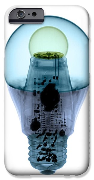 Electrical iPhone Cases - X-ray Of An Energy Efficient Light iPhone Case by Ted Kinsman