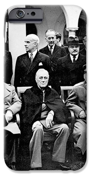 Franklin iPhone Cases - Yalta Conference, 1945 iPhone Case by Granger