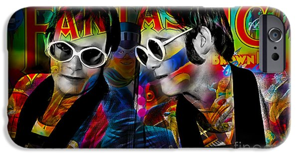 Piano iPhone Cases - Elton John Collection iPhone Case by Marvin Blaine