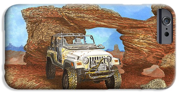 National Treasure iPhone Cases - 2005 Jeep Rubicon 4 wheeler iPhone Case by Jack Pumphrey
