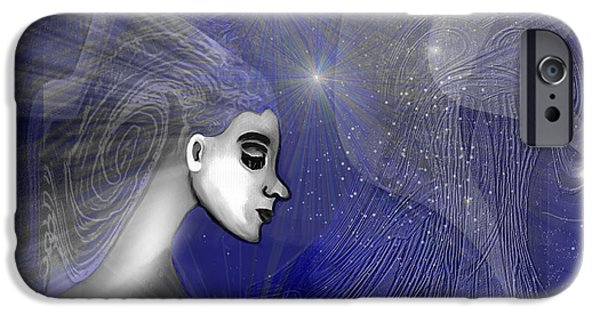 Irmgard iPhone Cases - 201 -   Traveling  through   veils of Universe iPhone Case by Irmgard Schoendorf Welch