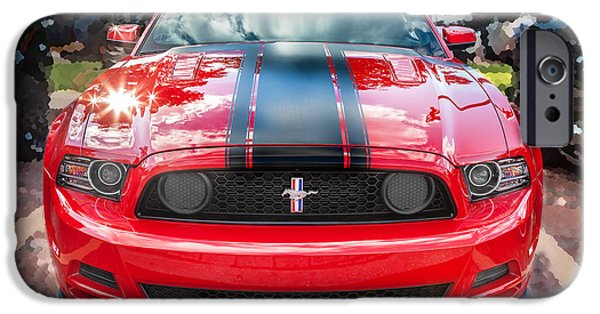 444 iPhone Cases - 2013 Ford Boss 302 Mustang  iPhone Case by Rich Franco