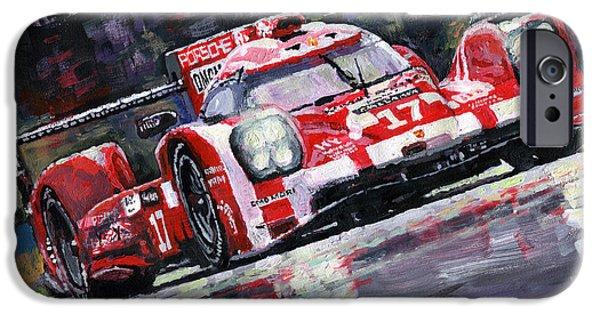 Le Mans 24 iPhone Cases - 2015 Le Mans 24H Porsche 919 Hybrid iPhone Case by Yuriy Shevchuk