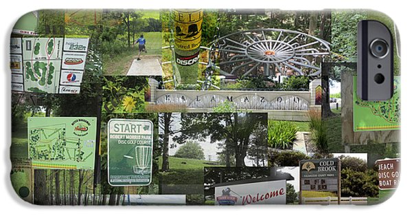 Disc iPhone Cases - 2015 PDGA Amateur Disc Golf World Championships Photo Collage iPhone Case by Robert Glover