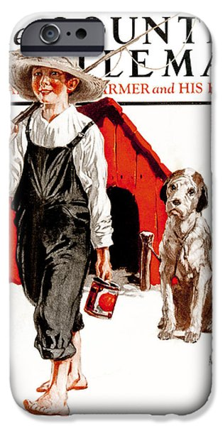 Doghouse iPhone Cases - Cover Of Country Gentleman Agricultural iPhone Case by Remsberg Inc