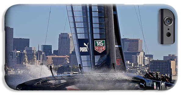 Sausalito iPhone Cases - Americas Cup San Francisco iPhone Case by Steven Lapkin