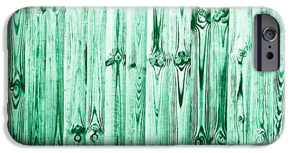 Emerald Green Abstract iPhone Cases - Fence panels iPhone Case by Tom Gowanlock