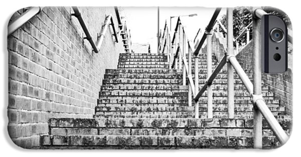 Grate iPhone Cases - Stone steps iPhone Case by Tom Gowanlock