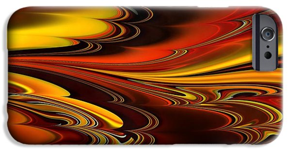 Red Abstract iPhone Cases - Abstraction Design iPhone Case by Victor Gladkiy