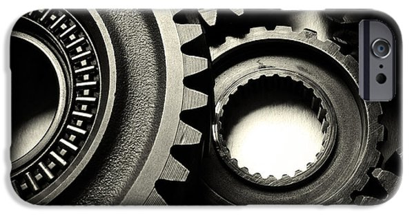 Cogwheel iPhone Cases - Cogs  iPhone Case by Les Cunliffe