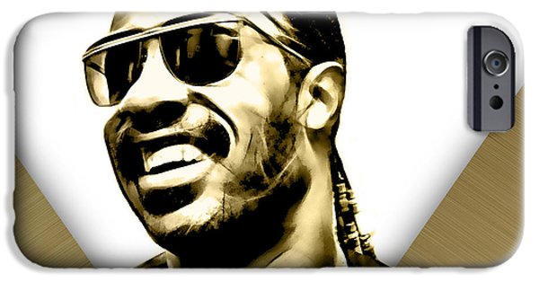 Soul iPhone Cases - Stevie Wonder Collection iPhone Case by Marvin Blaine