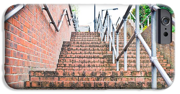 Descending iPhone Cases - Stone steps iPhone Case by Tom Gowanlock