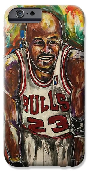 Jordan iPhone Cases - #23 iPhone Case by  Artist Ahmed Salam