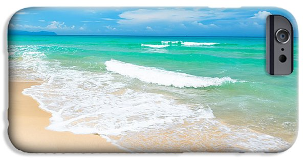 Water Photographs iPhone Cases - Beach iPhone Case by MotHaiBaPhoto Prints